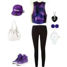 Cool purple outfit