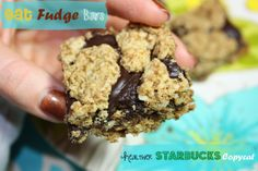 Oat Fudge Bars {Healthier Starbucks Copycat} - forget Starbucks, make these instead. You'll SAVE yourself 292 calories, 9 grams of fat, 44 grams of carbs and 39 grams of sugar! Gluten-free and can be dairy-free.  | BusyButHealthy.com