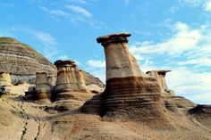 Hoodoos in Alberta Monument Valley, Scenery, Nature, Painting, Travel, Voyage, Paisajes, Landscape, Painting Art