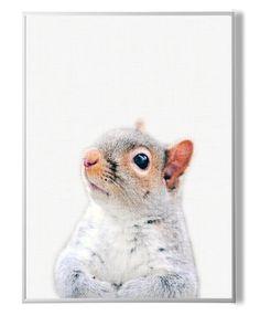 Squirrel Print, Nursery Decor, Woodlands Animal Wall Art, Kids Room Art,Squirrel…