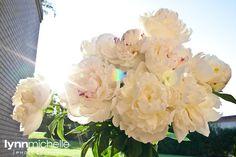 modern white wedding, off white floral arrangement, outdoors.