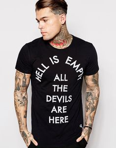 Religion | Religion T-Shirt Hell is Empty Embroidery at ASOS