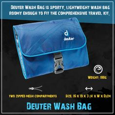 Buy #Deuter #WashBag #Online in India at lowest price. Buy Now http://www.stepinadventure.com/products/accessories-accessories/deuter/deuter-wash-bag/pid-10517178.aspx