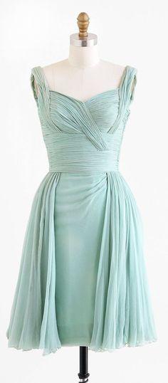 1960's Silk Chiffon Dress