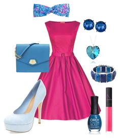 Pink and Blue Cutie by ohsosara64 on Polyvore featuring polyvore, fashion, style, Nine West, Kenneth Cole, 1928, Lilly Pulitzer, NARS Cosmetics, ORLY and clothing