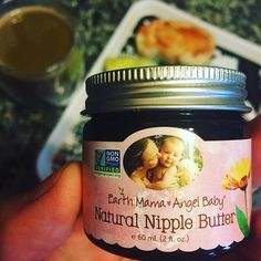 """""""I absolutely love this nipple butter! It is so much better than the lanolin stuff they give you in the hospital. It was a life saver for tender nipples in. I use it on dry baby skin and it is great! The best part is that it is safe for the both of us."""" ~ Nicole P  What's your favorite thing about Natural Nipple Butter? ( # @jonaspepper ) #EarthMamaAngelBaby #SafeAsMamasArms #NaturalNippleButter #Breastfeeding #NormalizeBreastfeeding #Motherhood #BreastIsBest #OrganicBaby #NaturalMama"""