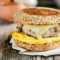 Healthy Freezer-Friendly Breakfast Sandwiches are make-ahead and whole-food friendly.
