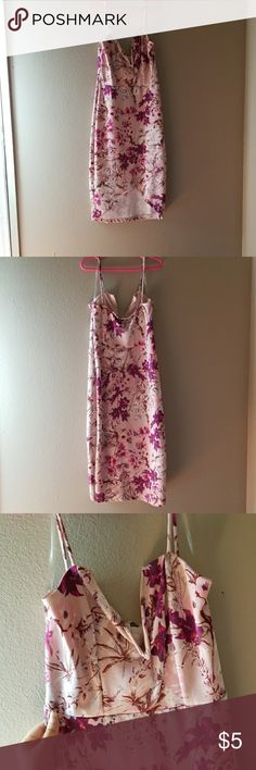 Floral Dress Floral pink dress low chest  front slit Charlotte Russe Dresses High Low