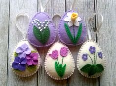 DELIVERY AFTER EASTER Felt Easter decor Lilac Easter by DusiCrafts