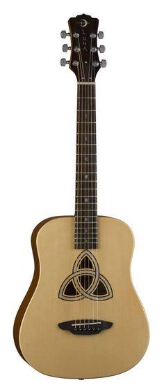 Luna Guitars Safari Trinity Travel Guitar with Gig Bag