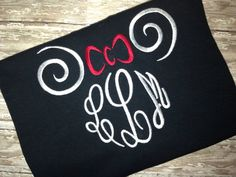 Monogram Minnie shirt by SassyFrassGiftery on Etsy, $20.00