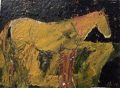 """Saatchi Art Artist laure heinz; Painting, """"Horse Study"""" #art"""