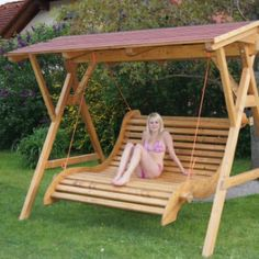 Hollywood Schaukel Mapogo Info Avec Holz Selber Bauen Bauplan Et Hollyw Pictures Porch Swing Frame, Bench Swing, Pergola Swing, Diy Pergola, Pergola Kits, Backyard Projects, Outdoor Projects, Wood Projects, Outdoor Decor