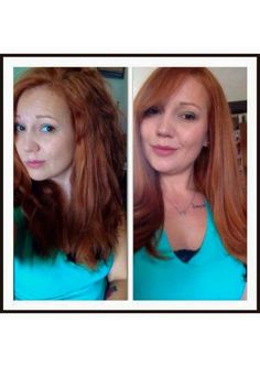 redhair ginger auburn hair Monat one wash and oil treatment. Amazing results  brittany.mymonat.com