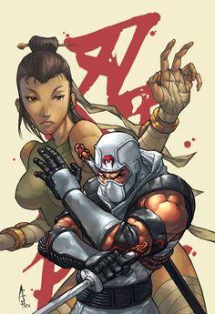 Joe: Master & Apprentice 2 Set with Variants Gi Joe Storm Shadow, Devil's Due, Ninja, Comic Art Community, 80 Cartoons, Gi Joe Cobra, Joe Cool, Sketch Pad, Samurai Warrior