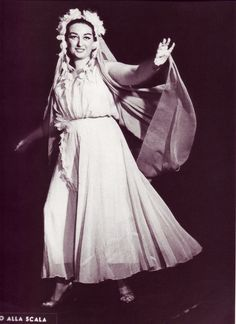 Montserrat Caballé debut at La Scala de Milano, as a Flower Maiden in Wagner's Parsifal 1960