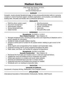 CV/resume - Bilingual Secretary | Resume | Pinterest | English ...