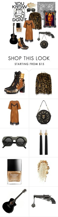 """""""You Know Me And You Don't"""" by nicolebokser on Polyvore featuring Christian Louboutin, Dries Van Noten, Maison Margiela, Kuboraum, Yves Saint Laurent, Butter London and Chanel"""