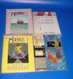 Comics especial Moebius 4 tomos-Metal Hurlant 2 moebius y 3-5-7 edicion american