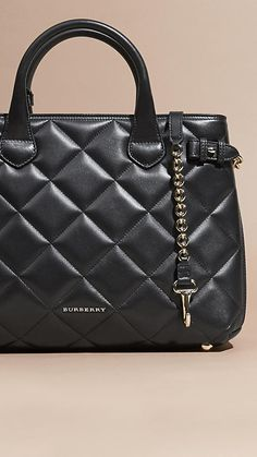 The Medium Banner in quilted leather from Burberry. Discover the women's bag collection at Burberry.com