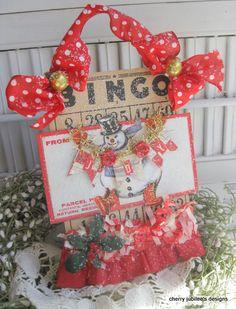 Vintage Bingo Cards, and Retro Christmas