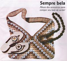Patrones para Crochet: Conjunto Bolsa Triangulos Crochet y Hawaianas