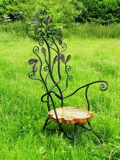 I like how the metal vines on the back of the chair gives it that really nice organic feel.