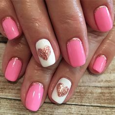 "84 Likes, 2 Comments - Sanctuary Spa at Tradition (@sanctuaryspatradition) on Instagram: ""Rose gold for life ♥️♥️♥️ #nailsbyjustine #heartnails #valentinesday #valentinesnails #rosegold…"""