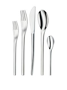 The Nordic 30 Piece Stainless Steel Flatware Set Features An Ultra Modern  Design With A Dynamic Sense Of Movement That Imparts Sleek Sophistication  To Any ...