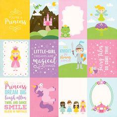 3x4 Journaling Cards Paper - Perfect Princess - Echo Park