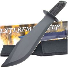 210986 Extreme Sweep Combat Bowie Knife | MooseCreekGear.com | Outdoor Gear — Worldwide Delivery! | Pocket Knives - Fixed Blade Knives - Folding Knives - Survival Gear - Tactical Gear