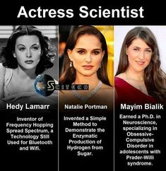 Now these are true role models! Women in Science. Hedy Lamarr, Natalie Portman, & Mayim Bialik are all actresses that have contributed to science! Angst Quotes, Badass Women, Fierce Women, Faith In Humanity, Women Rights, History Facts, History Photos, Good People, Perfect People
