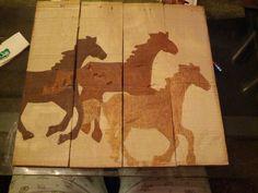 Running horses pallet sign (hoc made 7-14)