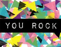 kind over matter: Free Printable Kind Card : You Rock