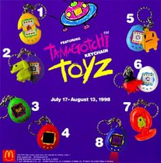Tamagotchi Keychains (1998) | The 26 Most Awesome Happy Meal Toys Of The '90s