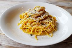 Culy Homemade: spaghetti met romige pompoensaus