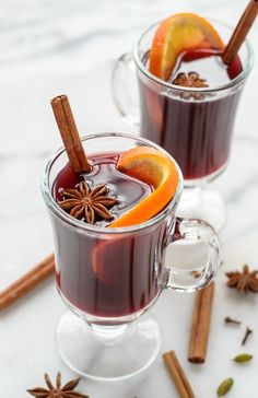 Hot Spiced Wine - the best mulled wine with brandy, apple cider, and spices. This traditional mulled wine is festive, easy, and perfect for parties!