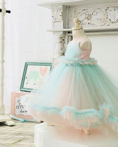 Cotton Candy Dreamin' Camilla Dress In stock and ready to ship Worldwide shipping Click the link in bio to shop ittybittytoes