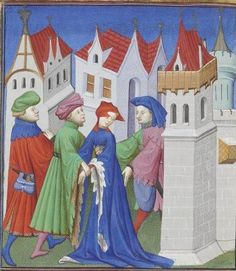 Publius Terencius Afer, Comoediae [comédies de Térence] ca. 1411; Bibliothèque de l'Arsenal, Ms-664 réserve, 131v