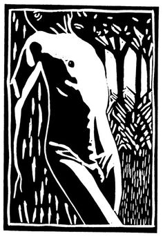 I like the idea of the 'figure in the landscape'. This is a combined image with the trees added to the torso image on the Lino block. All my work is sold at the price of post and packing £4 UK - £6 worldwide, 100 x 150 mm. #male #torso #nude #linocut #art #B&W #printmaking #blackandwhite #reliefprint #print  #linoprints
