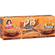 Little Debbie PB Peanut Butter Creme Pies, 6 count, 18.39 oz