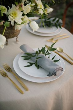 greenery napkin ring