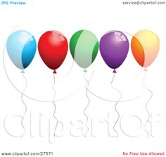 Clipart-Illustration-Of-A-Row-Of-Blue-Red-Green-Purple-And-Orange-Party-Balloons-With-Matching-Strings-102427571.jpg (1080×1024)