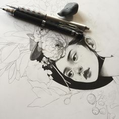 Drawing started for a show (I hope?) will be going on later this month :) loving…