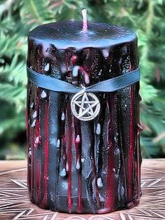 Veiled Pumpkin Samhain Ritual Candle - pagan wiccan witchcraft magick ritual supplies