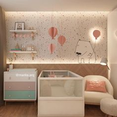For more nursery's inspirations go to CIRCU.NET and discover more ideas and furniture for luxury baby bedroom Baby Bedroom, Baby Room Decor, Nursery Room, Girls Bedroom, Bedroom Decor, Baby Room Design, Kids Decor, Home Decor, Home And Deco