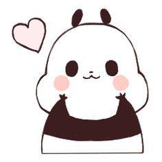 Silly puffy panda stickers! Panda Kawaii, Kawaii Cute, Panda Wallpapers, Cute Cartoon Wallpapers, Panda Lindo, Chibi, Baby Hamster, Cartoon Panda, Cute Panda Wallpaper