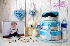 Auguri Diversi diaper cake - Torta di pannolini 3 piani + Prodotti Mustela per il bagnetto - Nascita, Baby Shower, Battesimo www.facebook.com/AuguriDiversi