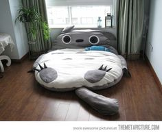 Totoro Bed…with my luck, all the dogs, cats, and bunnies would make a mad dash to it, and it would become the world's largest pet bed.  Oddly enough, I still want one!