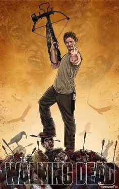 Walking Dead fan art, Daryl Dixon